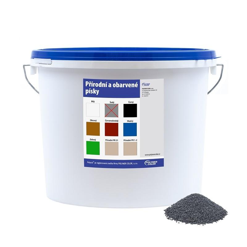 Obarvený písek šedý