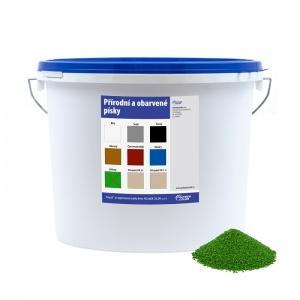 Obarvený písek zelený